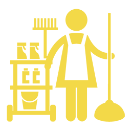 Yellow commercial cleaner icon